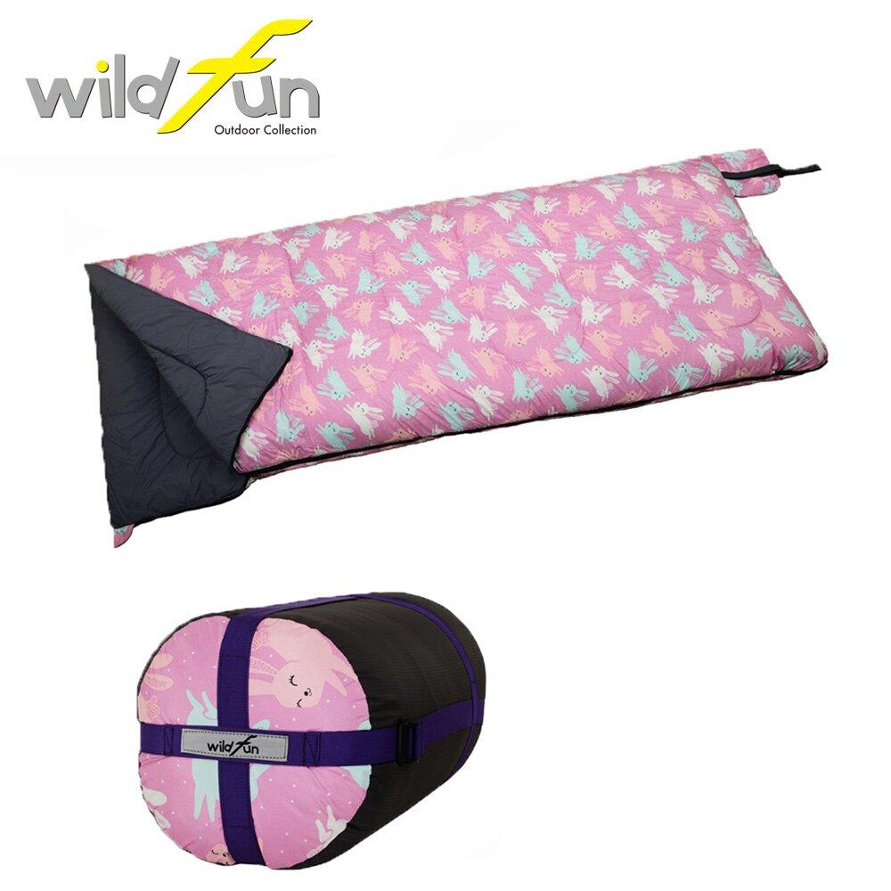 WildFun 野放可拼接方型發熱棉睡袋 兔兔