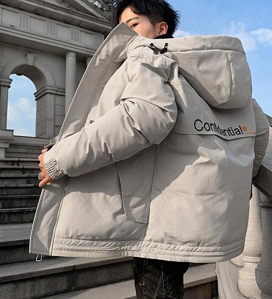 羽絨服男 棉衣男士秋冬季新款加厚羽絨棉服潮流連帽工裝外套保暖面包棉襖【快速出貨八折搶購】
