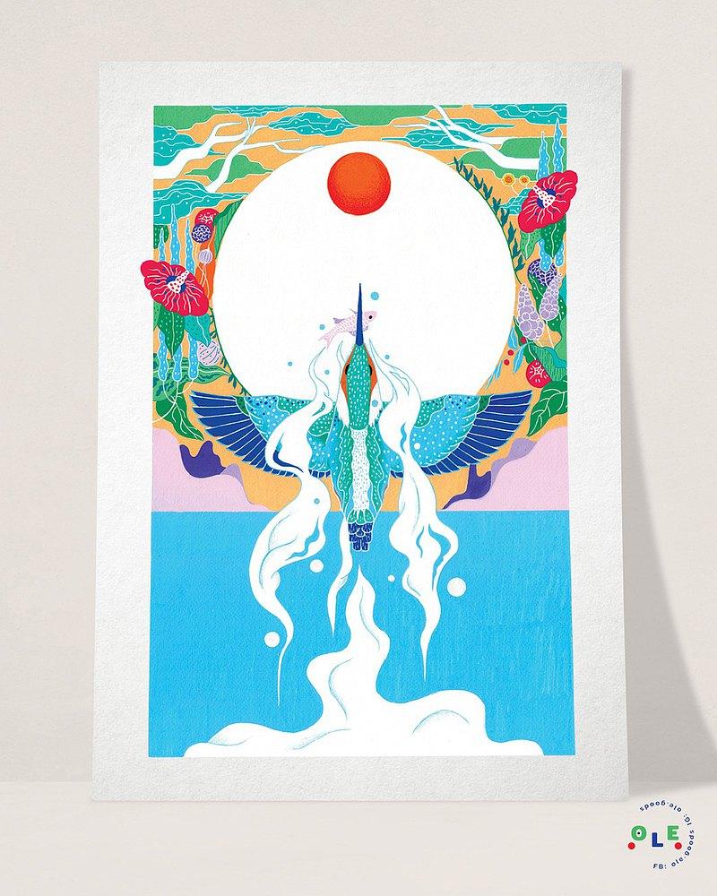 海報:翠鳥釣到一條魚