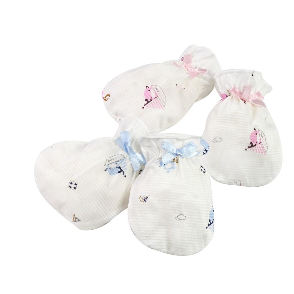 KU.KU 酷咕鴨蝴蝶結護手套 2雙入 彈性束口穿戴方便 質感柔細舒適 讓寶寶保暖又安全2306 HORACE