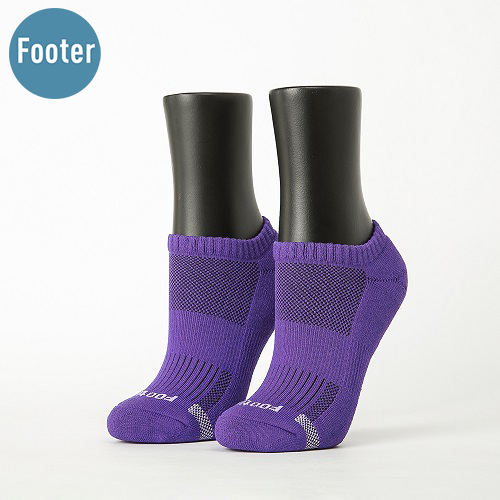 《Footer - 單色運動逆氣流氣墊船短襪 女款 | 紫》戶外運動首選配件,提升排汗功效