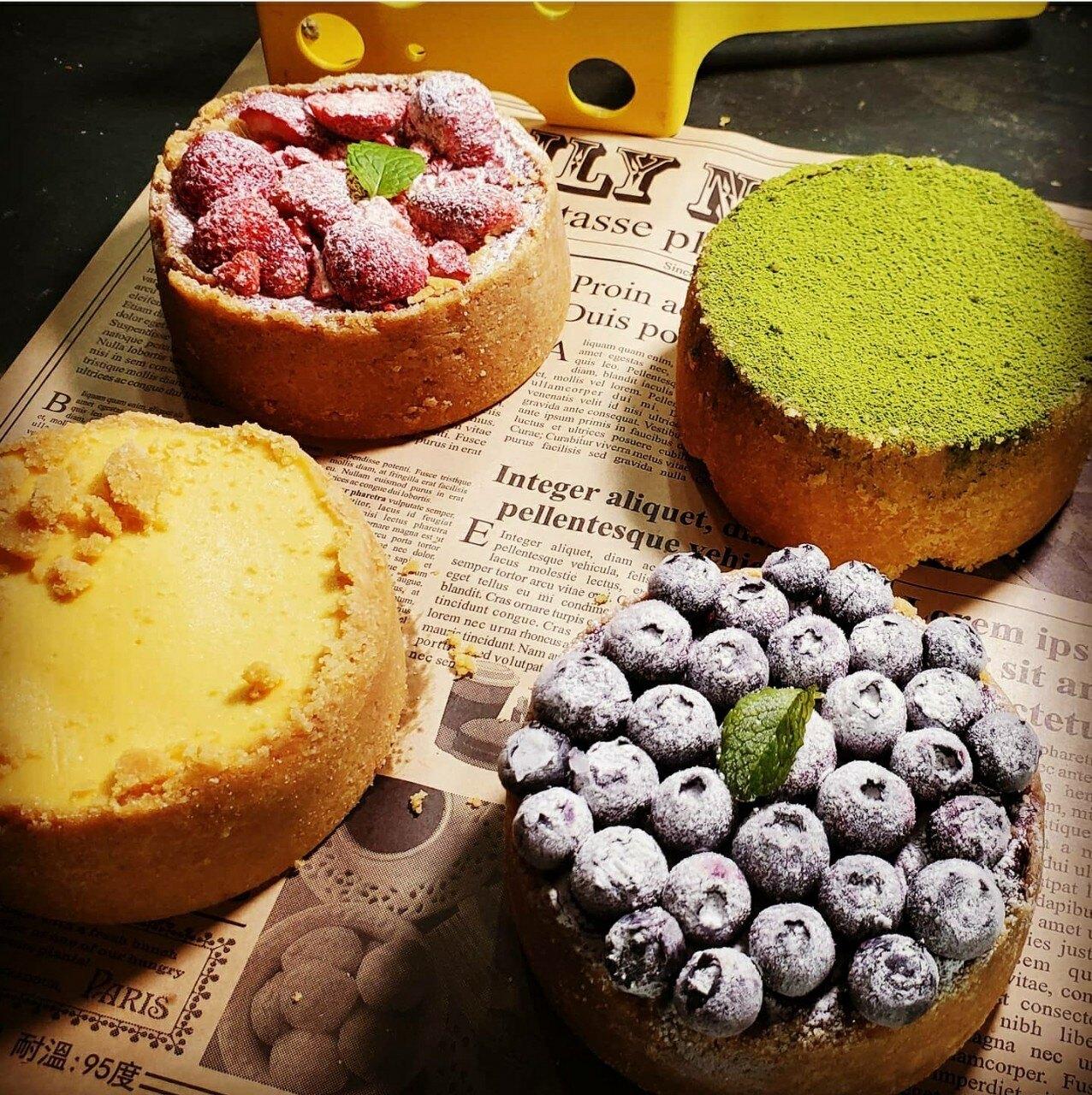 [糕中生一年四班] 4寸新上市,晴克萊兒聯名藍莓重乳酪 芝士蛋糕 甜點 下午茶 點心 蛋糕