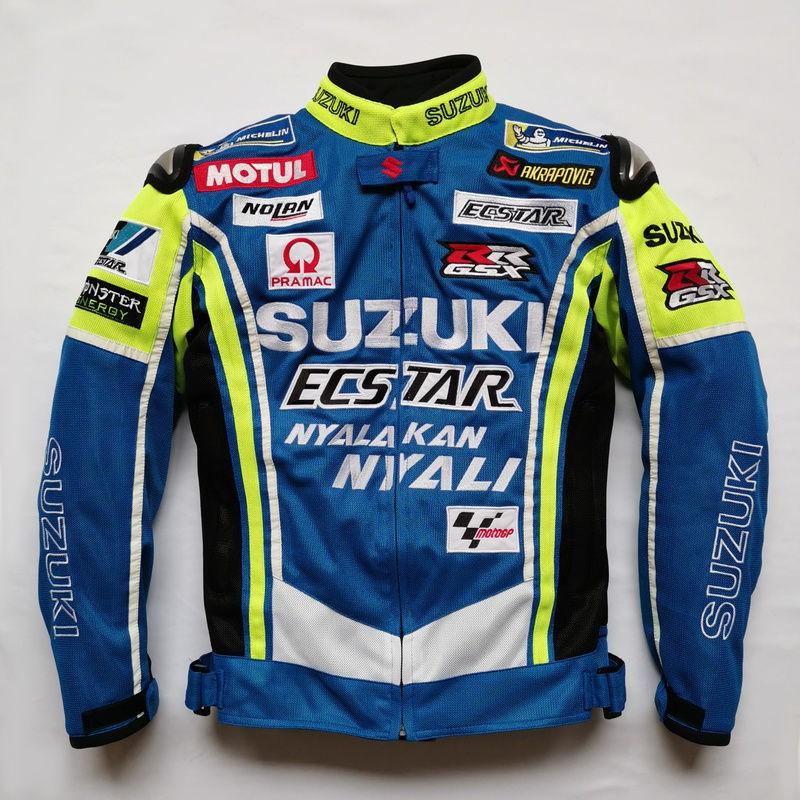 夏季網眼透氣騎行服男摩托車GSX250賽車街車機車騎行夾克防摔裝備
