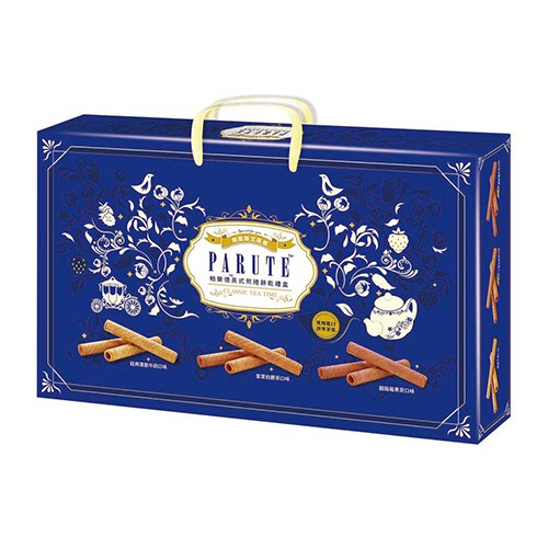 PARUTE帕樂德英式煎捲餅乾禮盒168g【愛買】