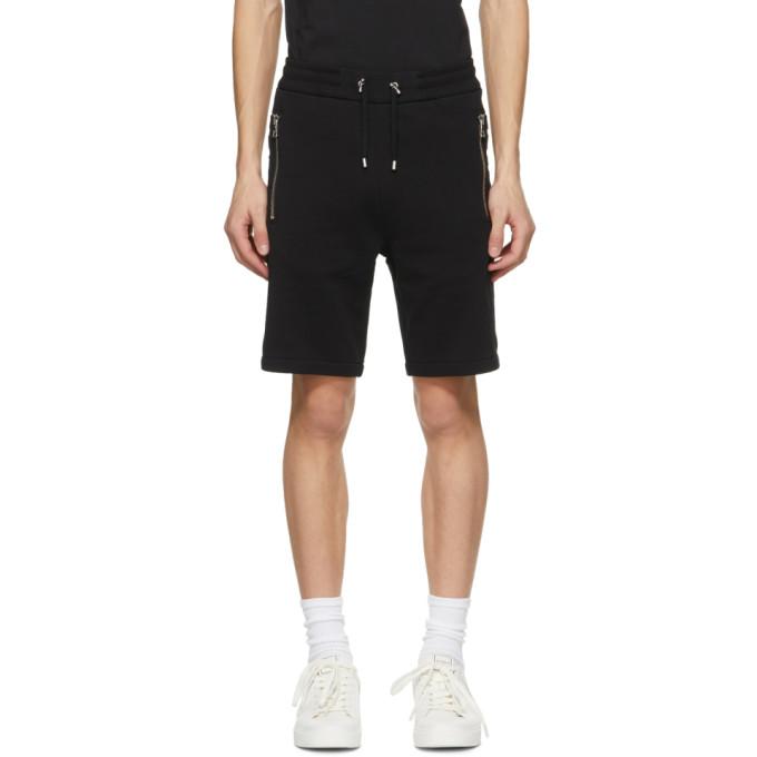 Balmain 黑色徽标压花短裤