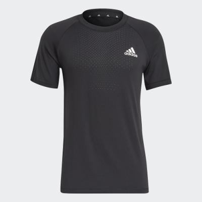 ADIDAS 上衣 短袖上衣 運動 慢跑 訓練 男款 黑 GM2066 AEROKNIT