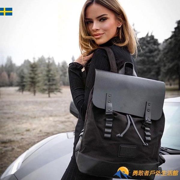 瑞典潮牌後背包電腦雙肩包男背包女大容量旅行包休閑書包