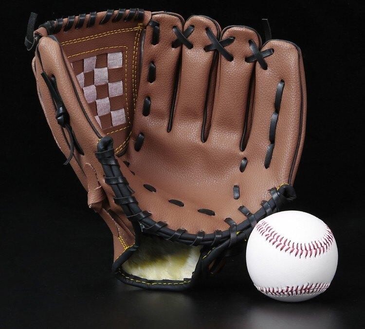 新店五折 棒球手套 投手手套 壘球手套 包郵送棒球 加厚 內野投手棒球手套 壘球手套 兒童少年成人全款