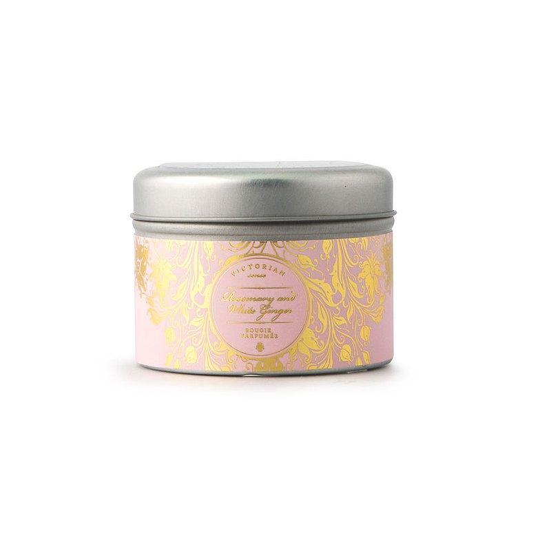 【瑞典VICTORIAN】感官系列 Rosemary Ginger 錫盒香氛蠟燭 迷迭香與薑
