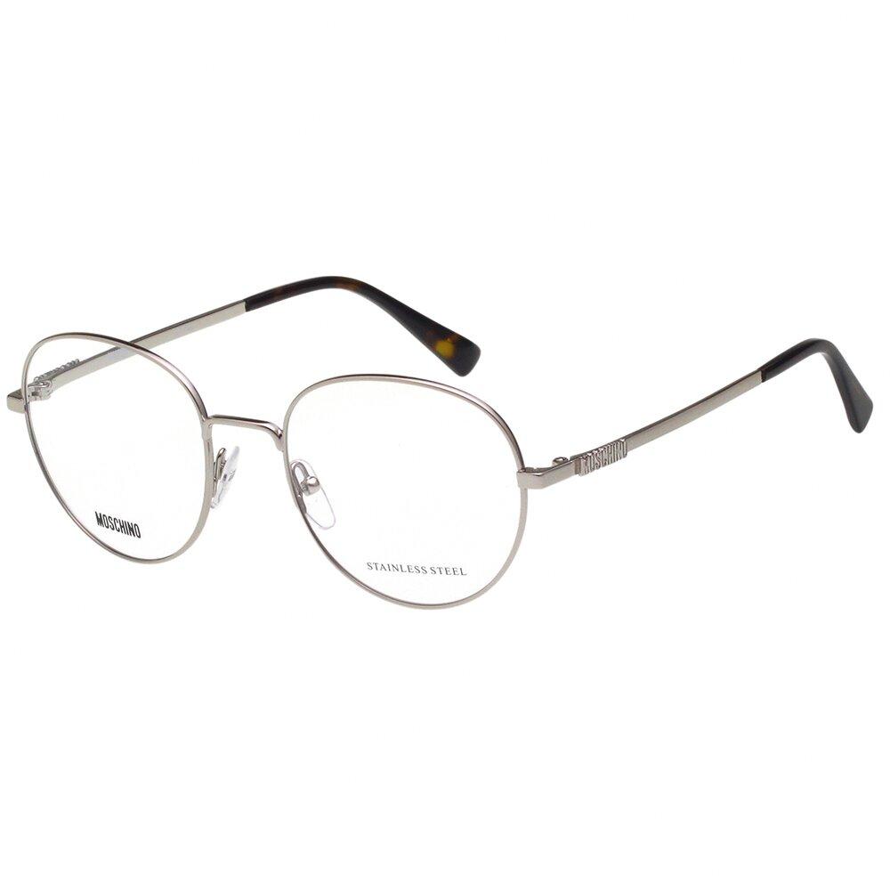 Moschino 圓框 光學眼鏡(銀色)