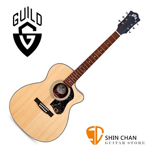 Guild 美國吉他品牌 Guild OM-340C 雲杉面單板 / 桃花心木側背板 切角 附 Guild 原廠吉他厚袋 台灣公司貨