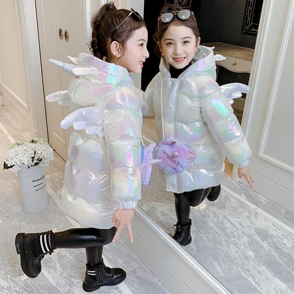 兒童棉服 加厚冬季羽絨棉服新款洋氣中大兒童外套冬裝棉襖【快速出貨八折下殺】
