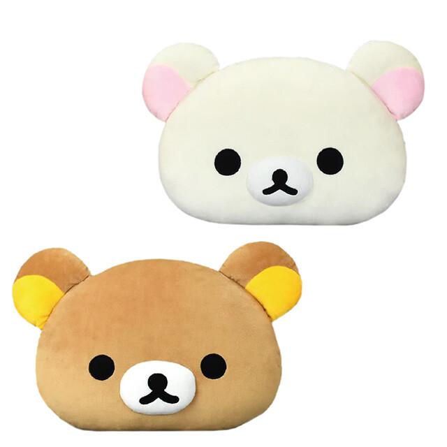 日本拉拉熊頭型抱枕 san-x 懶懶熊 rilakkuma 靠枕 玩偶 枕頭