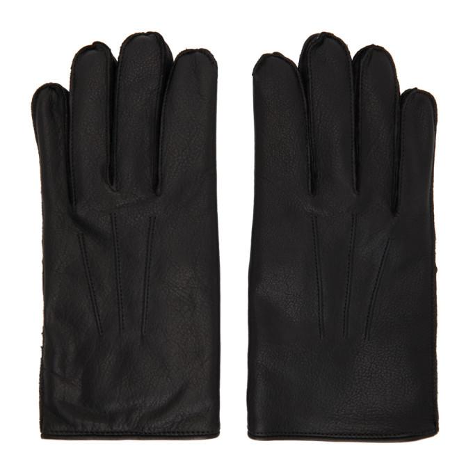 RRL 黑色 Officers 皮革手套