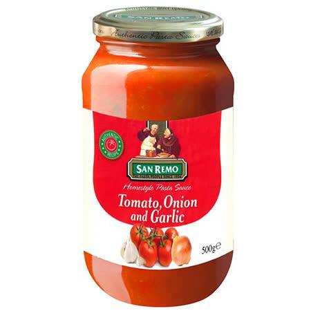 聖雷蒙頂級麵醬蕃茄大蒜口味500g