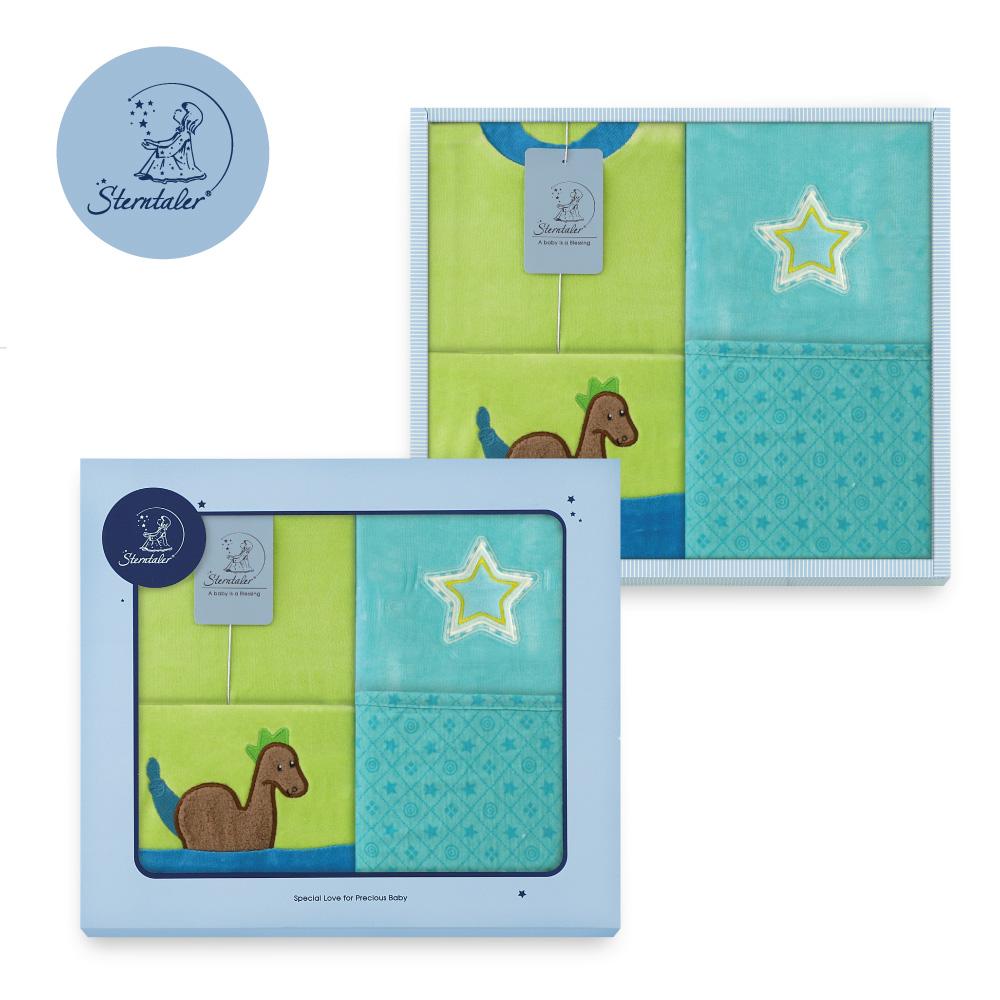 【彌月禮推薦】STERNTALER 丹尼龍藍兔裝附閃星雙面毯禮盒/彌月禮盒 C-5601510-B0-GIFT