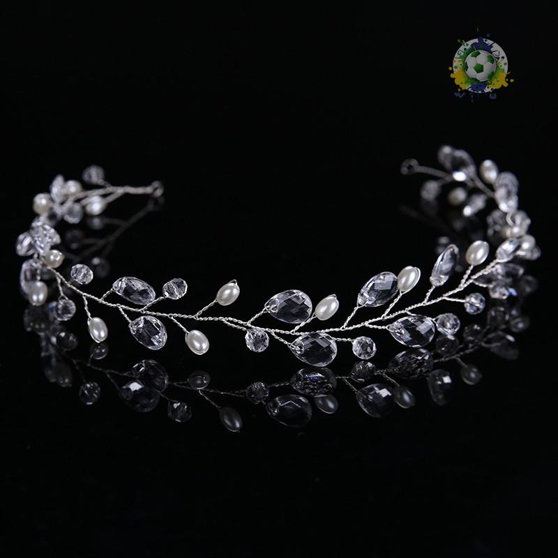 時尚女性頭飾髮梳水晶花束新娘婚禮派對髮飾
