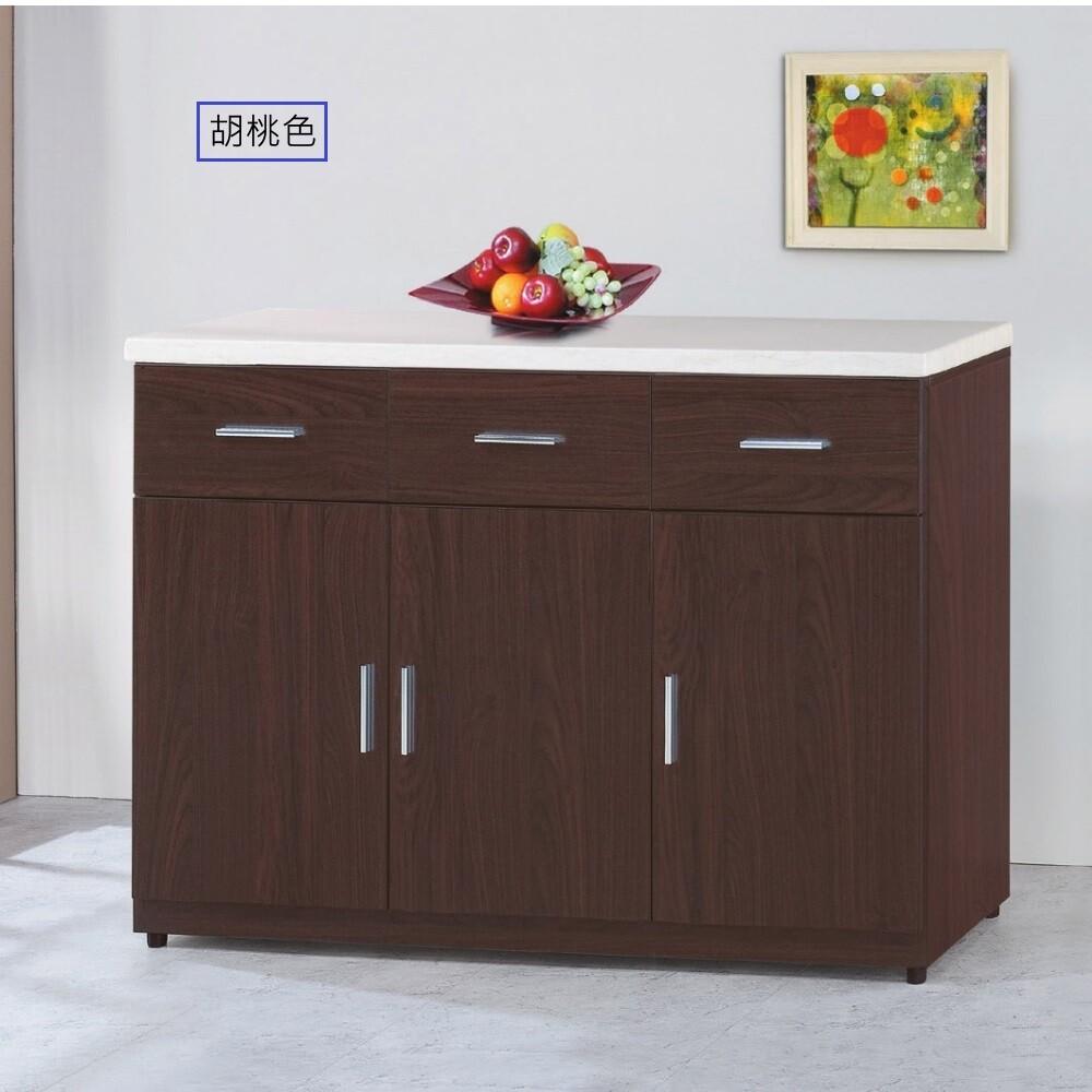 muna799型4尺石面餐櫃/碗盤櫃(下座)(共兩色)