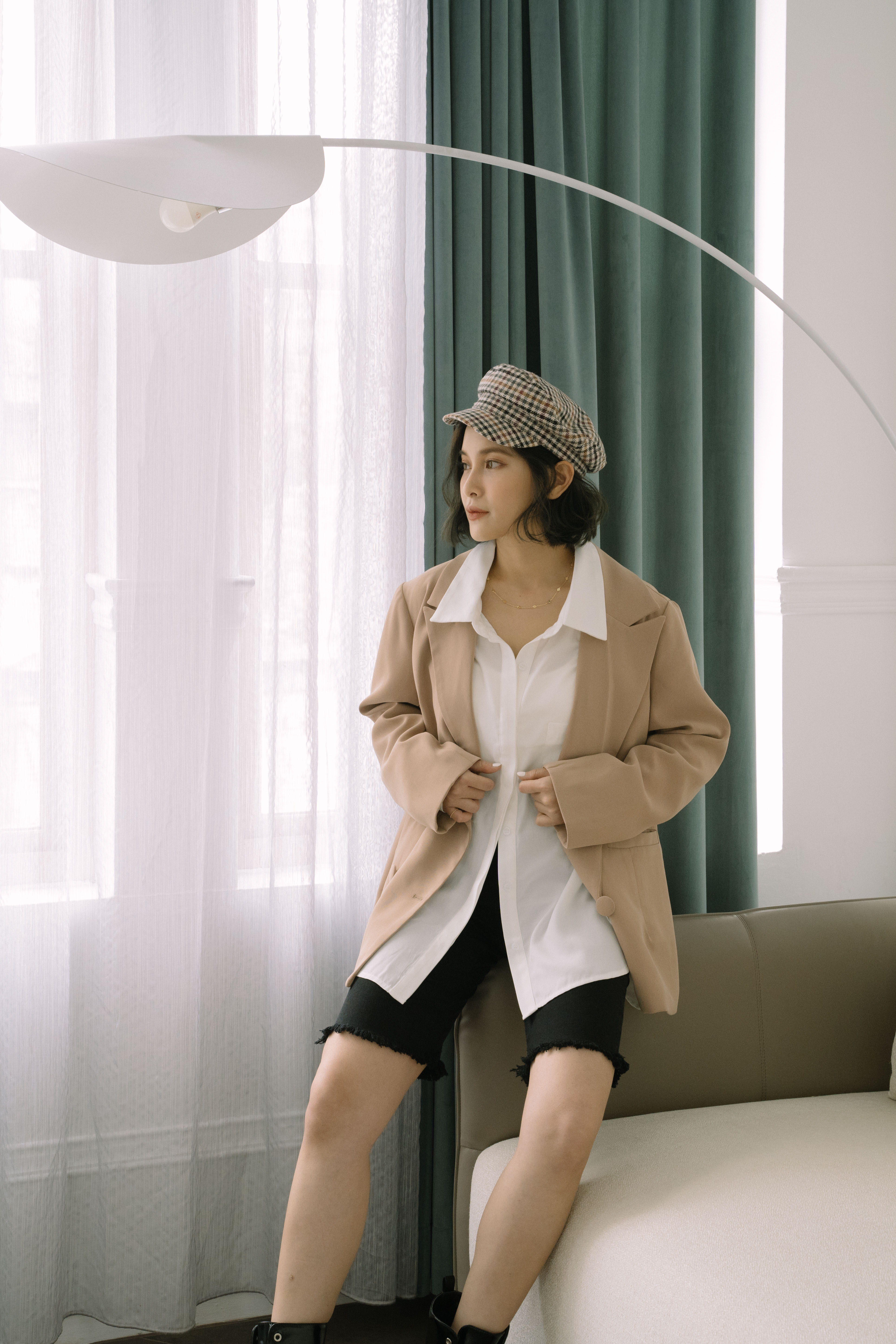 Mellow+百搭質感口袋襯衫