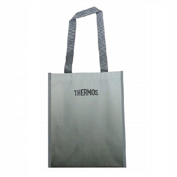 THERMOS 膳魔師 雙面漸層環保購物袋 黑皮TIME 21371