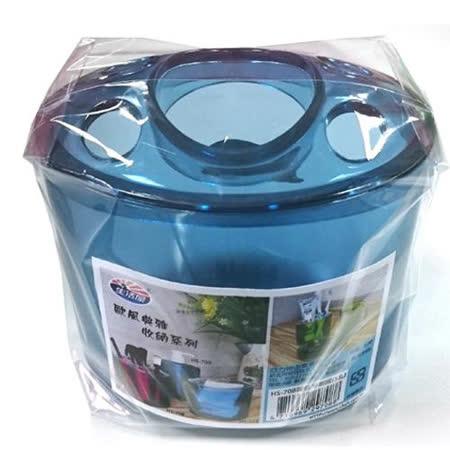 炫彩圓弧牙刷罐ALT-2(5孔)-藍