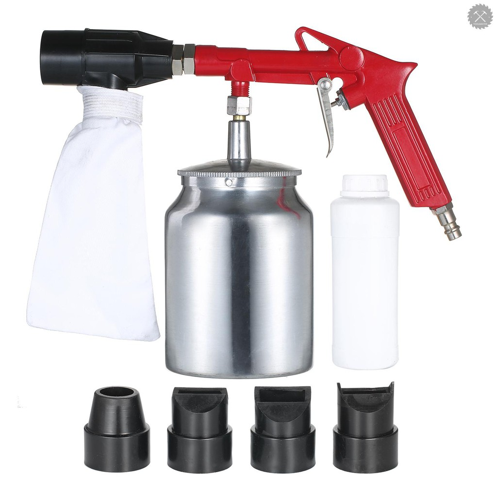[現貨]手持式噴砂槍套裝小型噴砂機PS-11R 塑料除鏽除油除雜質設備配4個噴嘴