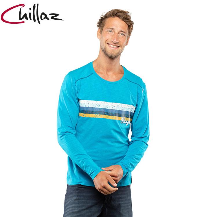 Chillaz 男天絲棉圓領長袖上衣203168-1 Street Respect  / 城市綠洲 (攀岩、登山、休閒、旅遊)