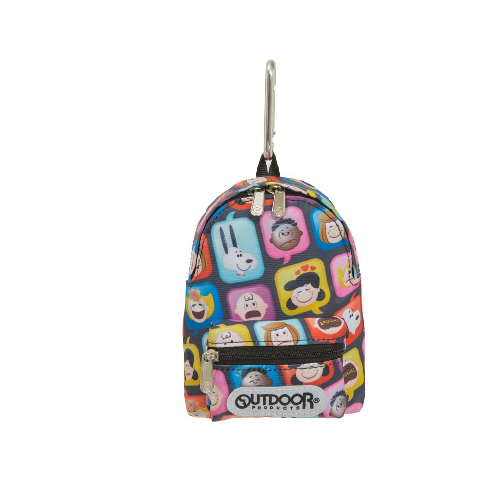 【OUTDOOR】SNOOPY聯名款emoji造型零錢包-黑 ODP21A06BK
