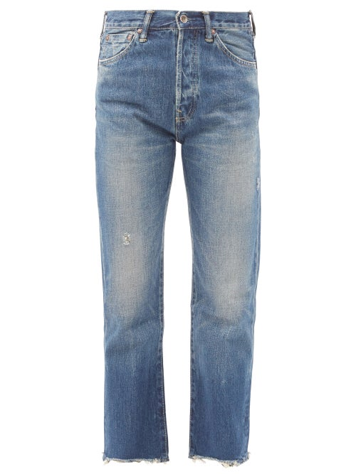Chimala - Cropped Selvedge-denim Straight-leg Jeans - Womens - Dark Denim