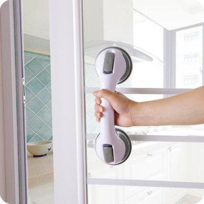 吸盤浴室洗澡扶手 免打孔衛生間玻璃門把手老人安全拉手