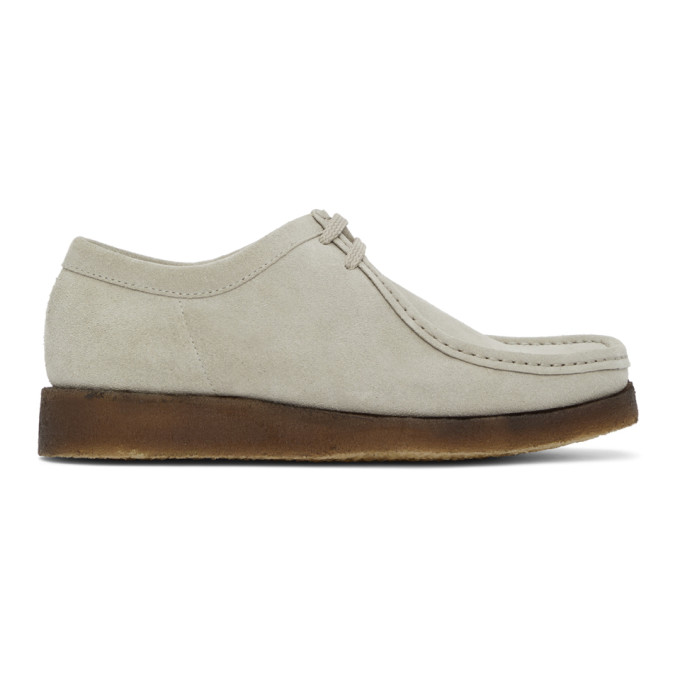 Padmore and Barnes SSENSE 独家发售灰色 Original P204 绒面革莫卡辛鞋