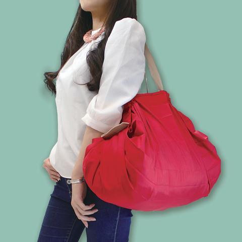*日本SHUPATTO可折疊手提肩背兩用包S419-(L )紅色