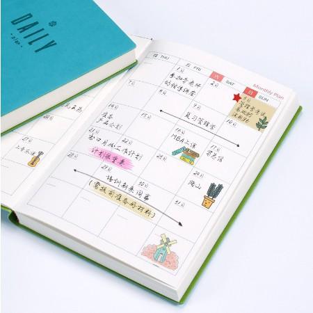 2019年日程本每日計畫本效率手冊A5筆記本文具記事本小清新日曆計畫表網格本日程計畫本大學生時間管理計畫本