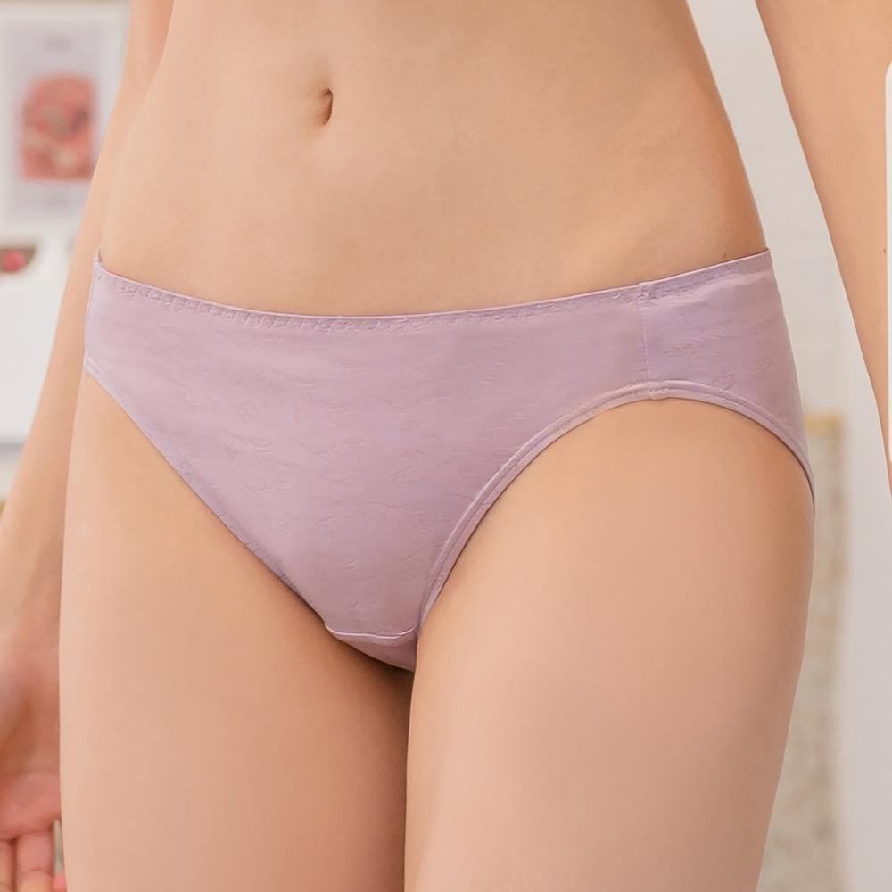 【曼黛瑪璉】無鋼圈經典低腰三角內褲(低調紫)