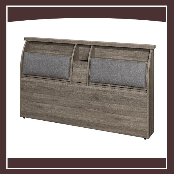 6尺耐磨古橡半月床頭箱(皮墊) 21324024005