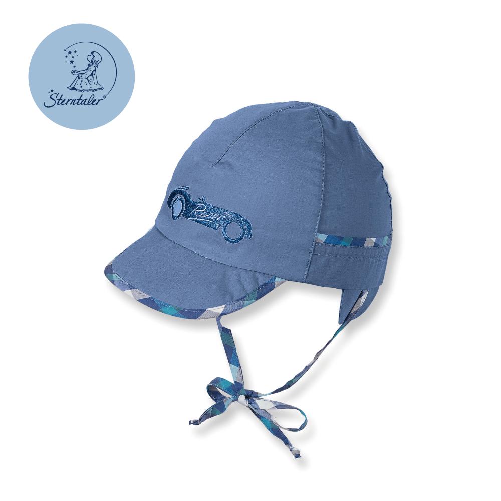 德國STERNTALER 抗UV遮陽童帽-敞篷車藍(41-53cm)C-1611601-345