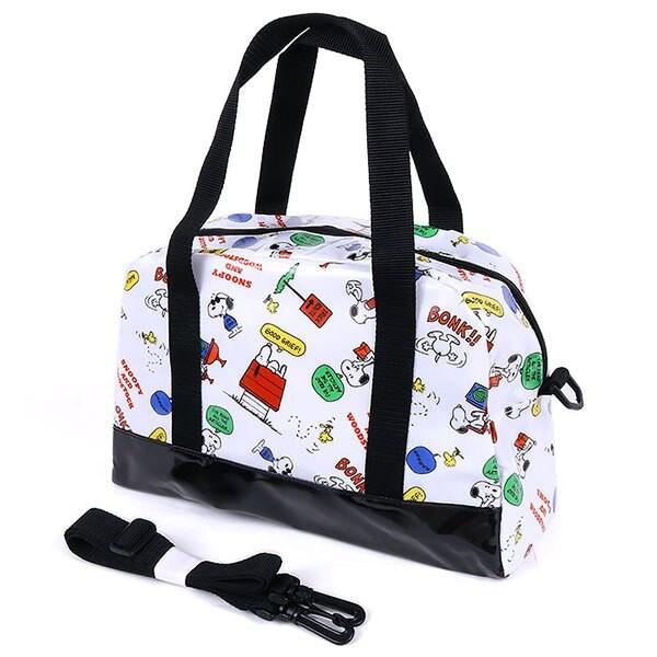 【史努比 斜背包】史努比 防潑水 波士頓包 斜背包 手提包 日本正版 該該貝比日本精品 ☆