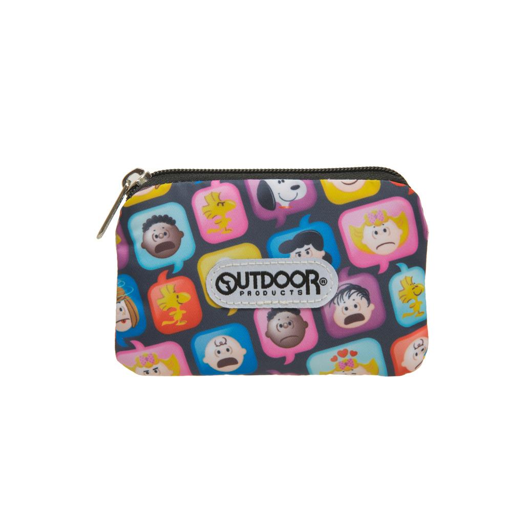 【OUTDOOR】SNOOPY聯名款emoji卡片零錢包-黑 ODP21A05BK