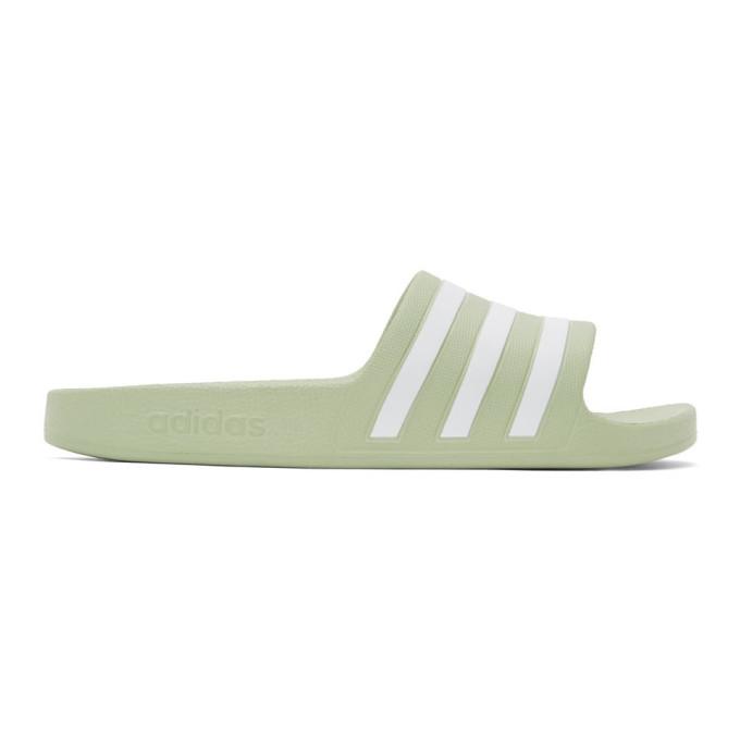 adidas Originals 绿色 Adilette 拖鞋