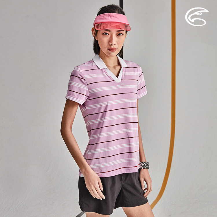 ADISI 女抑菌抗UV YOKO領POLO衫AL2011021 (S-2XL) / 城市綠洲 (柔軟彈性、吸濕排汗、抗UV)