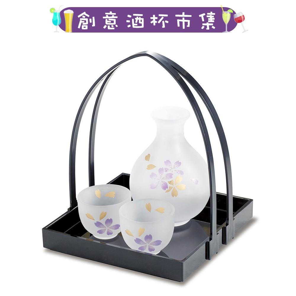 【日本廣田硝子】姬小鹿清酒杯壺拖盤組《拾光玻璃》 玻璃杯 玻璃壺 酒杯 酒壺 酒器