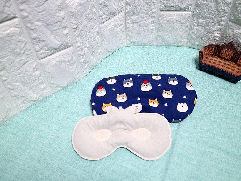 藍底的蘋果狗~紅豆溫敷眼罩 mask 可替換 調長短 電腦族手機族最佳保養眼睛方式