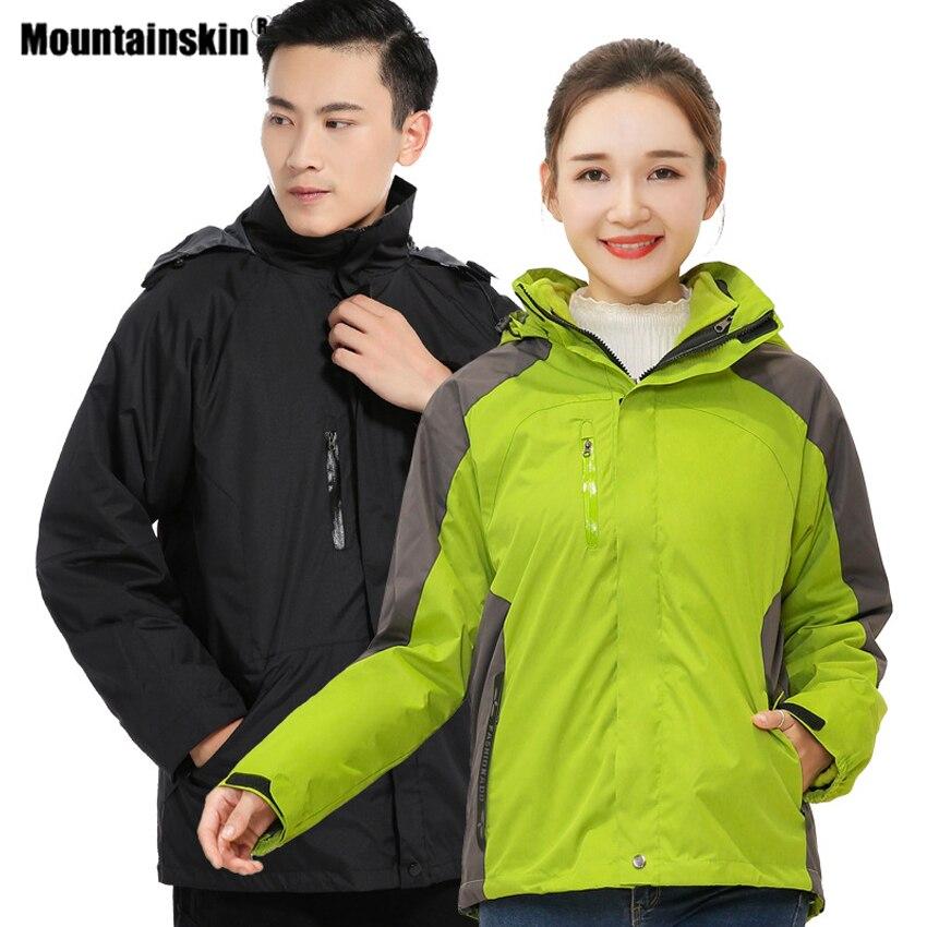 冬季女士戶外加厚兩件式遠足外套防風保暖內女式抓絨滑雪露營大衣 VA859