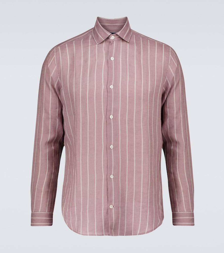 Thomas Leblon-striped linen shirt