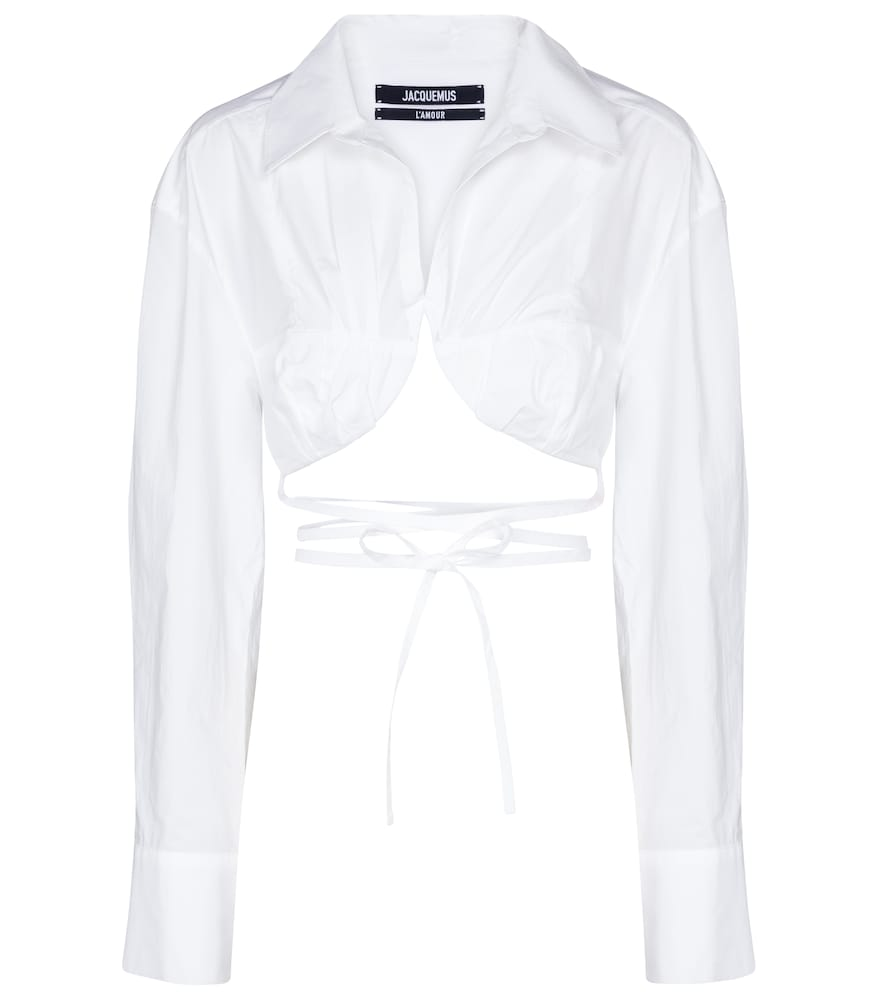 La Chemise Baci cropped cotton shirt