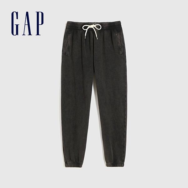 Gap女裝 簡約風格鬆緊針織休閒褲 544841-水洗黑