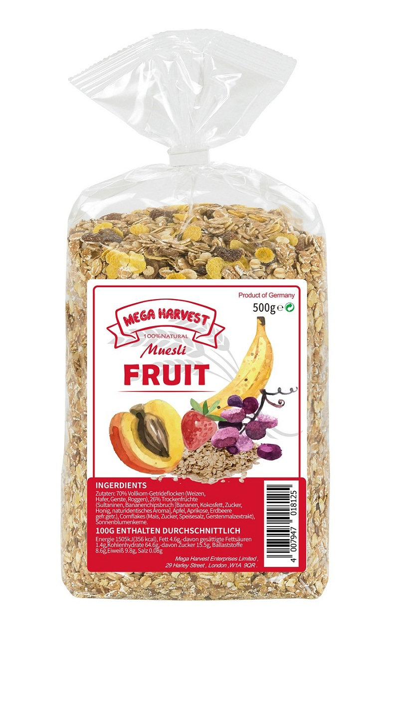 Mega Harvest什錦水果穀片  Mega Harvest Fruit Muesli  500g