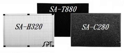 (濾網組)HEPA濾網+活性碳+除甲醛 H320+T880+C280 【適用 SA-2288F