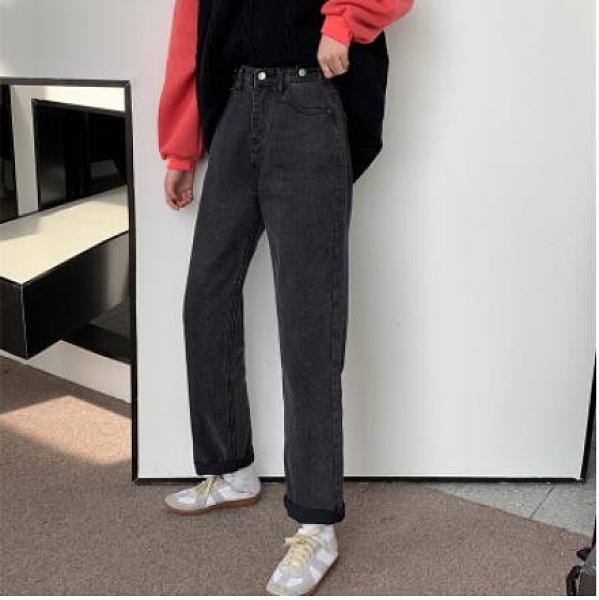 M-4XL小中大尺碼長褲~梨形身材穿搭高腰直筒牛仔褲女寬松百搭九分闊腿褲11265.1F127衣時尚