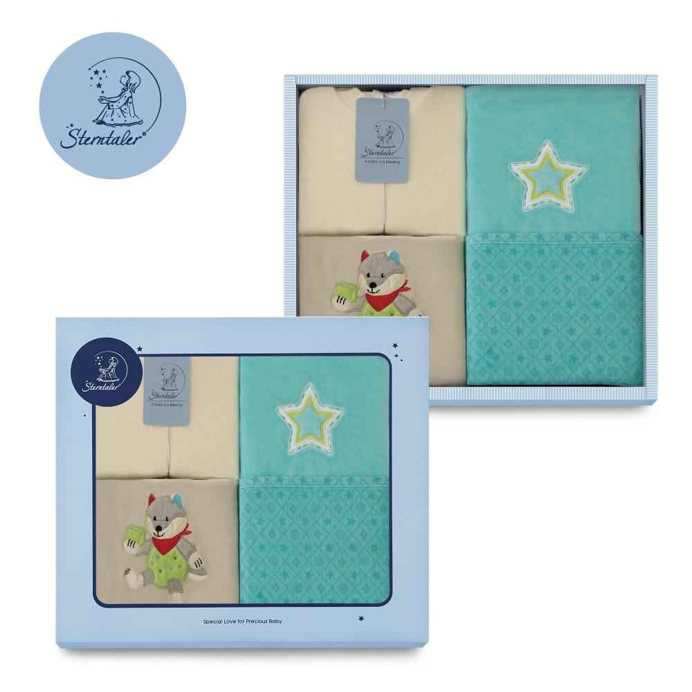 【彌月禮推薦】STERNTALER 威爾伯灰兔裝附閃星雙面毯禮盒/彌月禮盒 C-5601402-B0-GIFT
